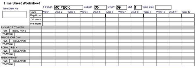 Worksheet Timesheet Worksheet syntegratech off the shelf software etimesheet foreman blank timesheet worksheet